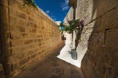 Street in Mdina Malta. Street in Mdina, former capital of Malta Stock Images
