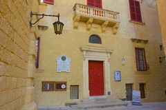 Street of Mdina, Malta Stock Photos
