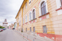 Street in Medias, Transylvania Royalty Free Stock Photo