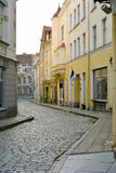 Street in the medieval city of Tallinn in Estonia Royalty Free Stock Photography