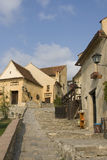 Street in the medieval fortress Rasnov, Transylvania, Romania Stock Photography