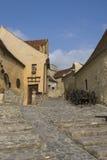 Street in the medieval fortress Rasnov, Transylvania, Romania Stock Photo