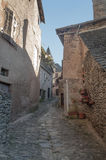 Street with medieval houses Stock Photography