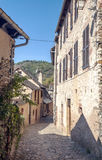 Street with medieval houses Royalty Free Stock Photo