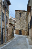 Street of the medieval town of Cuenca Stock Photo