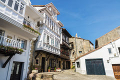 Street of the medieval village of Comillas in Spain Royalty Free Stock Photos