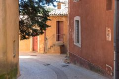 Village of Roussillon in the Provence Royalty Free Stock Images