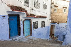 Street in medina of blue town Chefchaouen, Morocco Stock Photo