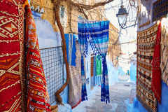 Street in Medina of Chefchaouen, Morocco Royalty Free Stock Photo