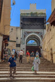 Street in the medina of Fes Morocco Stock Images