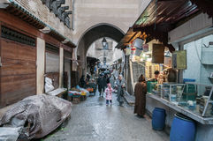 Street in the medina of Fez Stock Photo