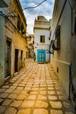 Street in Medina in Sousse, Tunisia. Royalty Free Stock Images