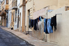 Street in  mediterranean town Stock Photography
