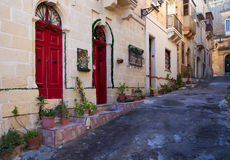 Street of mediterranean town. Stock Photos
