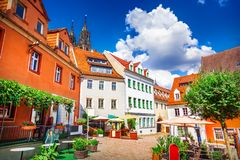 Street of Meissen royalty free stock photography