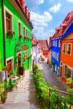 Street of Meissen royalty free stock photo