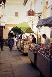 Street merchants in Fez, Morocco Stock Photos