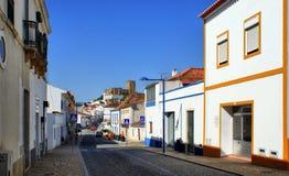 Street of Mertola village Stock Image