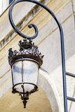 Street metal  Lamp on a vintage building background Royalty Free Stock Images