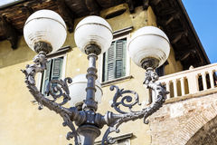 Street metal  Lamp on a vintage building background Royalty Free Stock Photography