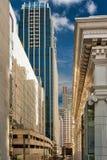 Street metropolis of skyscrapers Stock Image