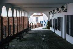 A street of Mijas pueblo village, Malaga province Royalty Free Stock Photos
