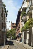 Street in Milan. Small street in the Italian city of Milan Stock Photos