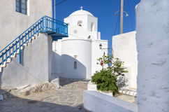 Street in Milos island, Cyclades, Greece Royalty Free Stock Photography