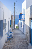 Street in Milos island, Cyclades, Greece Stock Images