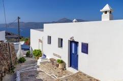 Street in Milos island, Cyclades, Greece Royalty Free Stock Photos