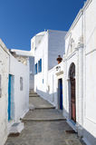 Street in Milos island, Cyclades, Greece Royalty Free Stock Image