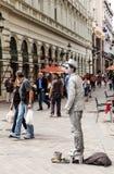 Street mime performer in Bratislava, Slovakia Stock Image