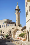 Street with minaret in tel aviv israel Stock Image
