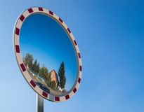 Street mirror Royalty Free Stock Images