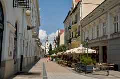 Street in Miskolc Stock Images