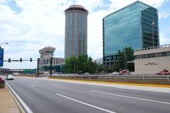 Street of modern city Stock Photo