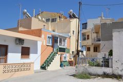 Street in modern part of Kefalos Royalty Free Stock Images