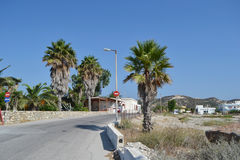 Street in modern part of Kefalos Royalty Free Stock Photography