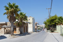 Street in modern part of Kefalos Royalty Free Stock Image
