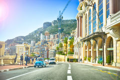 Street In Monaco  With Cars Stock Photography