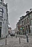 Street of Mons in Belgium Stock Image