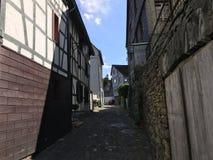 Street in Monschau Stock Images