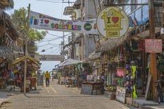 Street of Montanita Ecuador Royalty Free Stock Photos