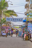 Street of Montanita Ecuador Stock Photography