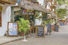 Street of Montanita Ecuador Stock Images