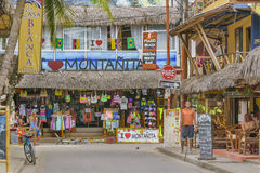 Street of Montanita Ecuador royalty free stock photography