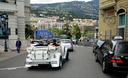 Street of Monte Carlo - veteran rallye Stock Photography