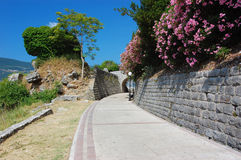 Street in Montenegro. The street in Herceg-Novi. Montenegro Royalty Free Stock Photography