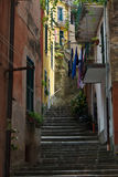 Street In Monterosso. A small backstreet in the histroic town of Monterosso. Liguria Italy Royalty Free Stock Images