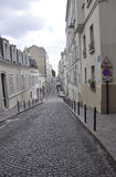Street in montmartre in Paris royalty free stock images